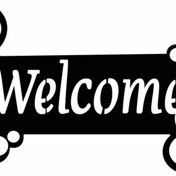 Welcome Sign Outdoor Insert Free DXF file