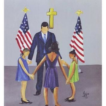 A Family That Prays Together Stays Together Annie Lee Art Print