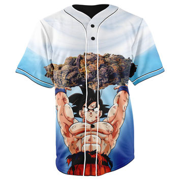 Goku Nugs Dragon Ball Z Button Up Baseball Jersey