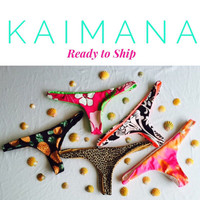 KAIMANA: Ready To Ship REVERSIBLE Brazilian Bikini Bottoms