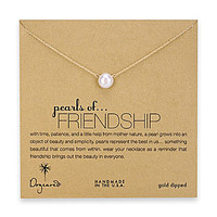 Dogeared Pearls of Friendship Necklace - Gold