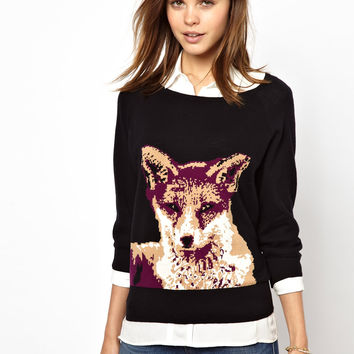 French Connection Fox Knitted Jumper