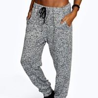 Topaz Melange Contrast Waist Relaxed Joggers