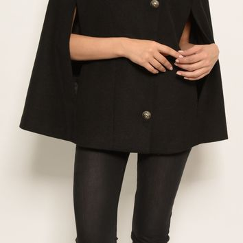 St. Sereno Women's Black Over Poncho