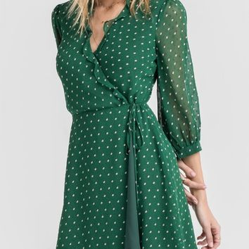 Green Polka Dot Mini Dress