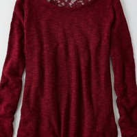 AEO Women's Feather Light Lace Sweater