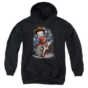 Betty Boop - Country Star Youth Pull Over Hoodie