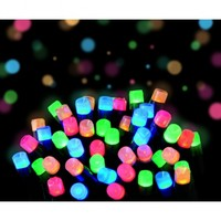 Frosted LED Multi Coloured Christmas Lights | Outdoor Frosted LED Lights | Indoor Frosted LED Lighting | Premier Indoor Outdoor Frosted LED Christmas Lights