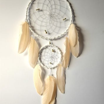Wall Hanging Dream catcher, White Peach Dreamcatcher, Baby Girl Nursery Decor, White Peach  Nursery Decor