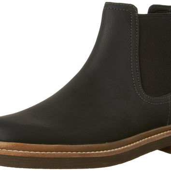 Clarks Men's Bushacre up Chelsea Boot Black 10 D(M) US '