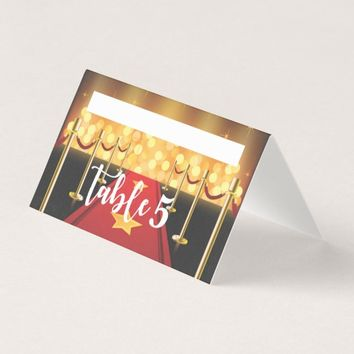Red Carpet Hollywood Sweet 16 Custom Place Card