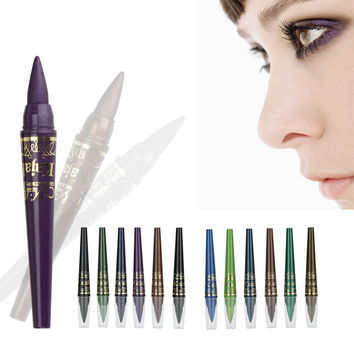 6PCS/pack M.N Kajal Makeup Eyeliner Colorful Eye Liner Pencil Waterproof Women Beauty Cosmetic