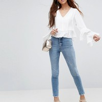 ASOS Blouse with Ruffle Sleeve at asos.com