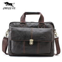 Genuine Leather Handbag For Men Cowhide Messenger bag Men's Cross body Bag For Travel Bags Casual Briefcase Bag