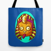 King Tater Tut Tote Bag by Artistic Dyslexia | Society6