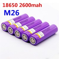 100% original LiitoKala for LG M26 18650 2600mah 10A 2500 li-ion rechargeable battery power safe battery for ecig/scooter