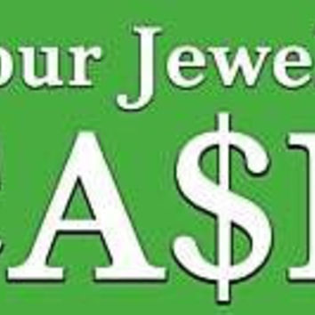 Jewelry To Cash Outdoor Vinyl Banner Sign