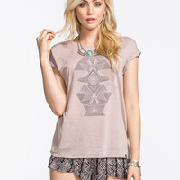 Volcom Turn N Burn Womens Tee Mauve  In Sizes