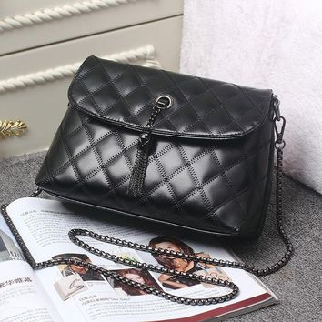 Leather Women Bag Black Chain Cross-body Handbags