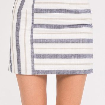 Divided Attention Mini Skirt - Navy