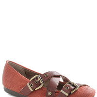 Strappy Hour Flat in Red | Mod Retro Vintage Flats | ModCloth.com