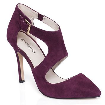 ShoeMint Farrell Women's Cutout Suede High Heels