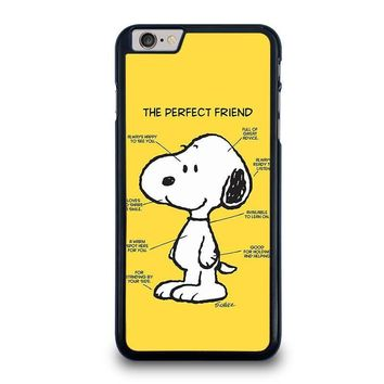 snoopy dog perfect friend iphone 6 6s plus case cover  number 1