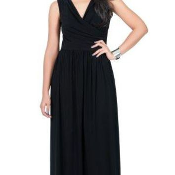 KOH KOH Womens Long Wrap Designer Sleeveless Evening Party Prom Gown Maxi Dress