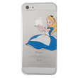 Disney's Alice in Wonderland Holding Logo Clear Transparent Case For Apple Iphone 5/5s