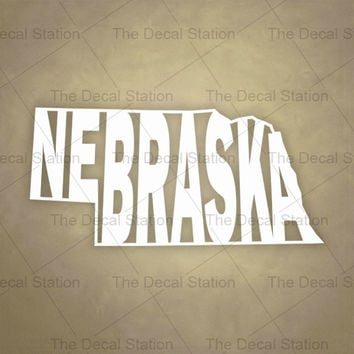 Nebraska Vinyl Decal Sticker for Car Truck Auto. Word Art . US State Pride.