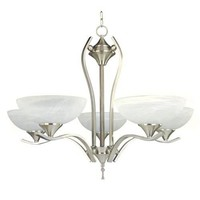 GlacierPoint Enchantingly Styled 5 Lights Chandelier in Satin Finish