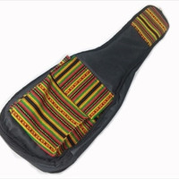Peru Hand-Made Half-Accent Padded Ukulele Bag in Rasta