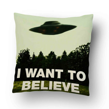 the x files i want to believe quotes Pillow Cover