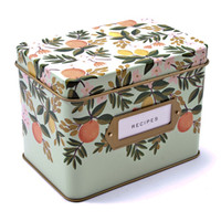 Rifle Tin Recipe Box Set-Floral - See Jane Work