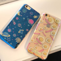 Fried Eggs  Space Case Cover for Apple iPhone 6 6S 6 Plus 6S Plus DC0823-001