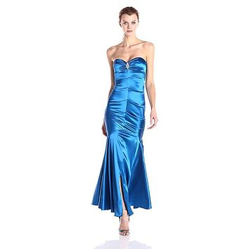 Xscape Women's Sweetheart Strapless Long Gown with Embellishment