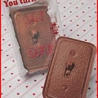 Solid Milk Chocolate You Turn Me on Unique Novelty Gourmet Candy Gift Boxed Light Switch for Adults , Children & Lovers