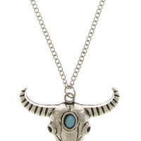 Stone Ox CharmNecklace