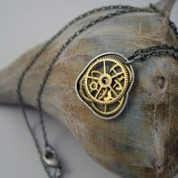 Clockwork Necklace Squeeze Not Quite Steampunk by amechanicalmind