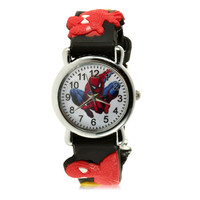 2017 Children Boys Marvel Cartoon Kids Analog Quartz Wrist Watch Rubber Fashion Reloj NO1 Cool Design Relogio New Arrivals