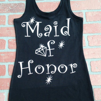 Diamond Briadal Party Tank Tops