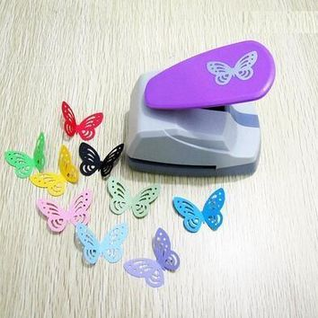 free shipping 4.4cm butterfly 3D shape board puncher paper punch for greeting card handmade ,Scrapbook Handmade puncher
