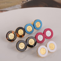 Accessory Metal Resin Simple Design Earring Jewelry [6573078343]