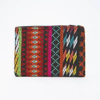 Multi-Patterned Zippered Clutch
