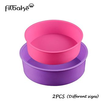 Pastry tools Round Silicone Mold Set 2 Layers Mousse Cake Moulds Baking Pan for Birthday Cake Molds