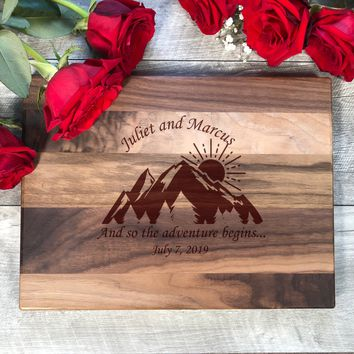 Cutting Board. Wedding Gift. Personalized Bridal Shower Gift. Engagement Gift. Engraved Board. #41