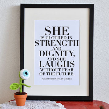 She Project Wisdom  Proverbs 31  8x10in  DIY by PrintableScripture