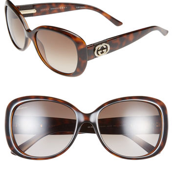 Gucci 56Mm Swarovski Crystal Sunglasses LAVELIQ