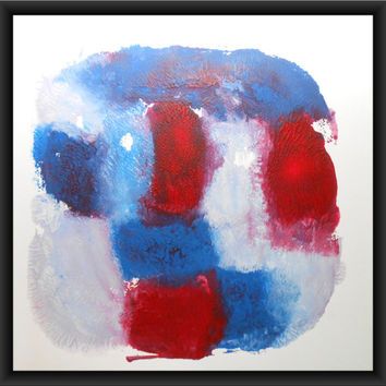 """Modern Abstract OOAK Hand Painted Acrylic Painting 14x14 Inches  """" Untitled 1179"""""""