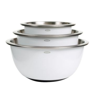 OXO Good Grips 3-pc. Stainless Steel Mixing Bowl Set (White)